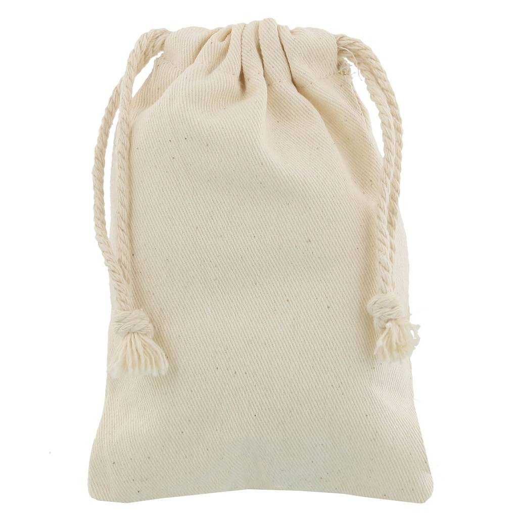 cotton drawstring bag 10x15cm