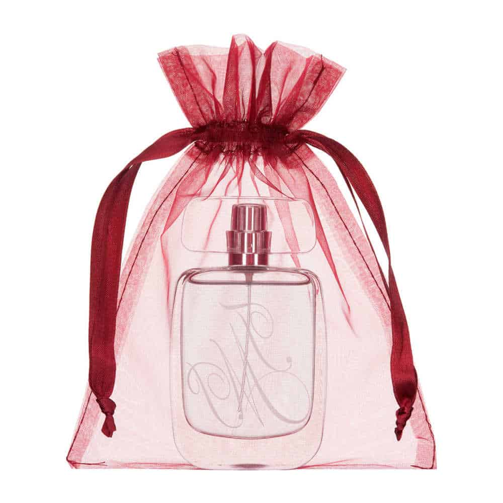 medium organza bag 15x20cm bordeaux red 2.0