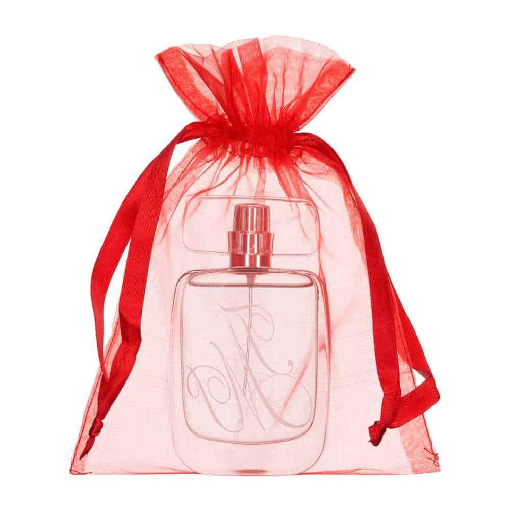 medium organza bag 15x20cm red 2.0
