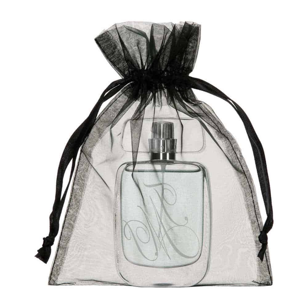 medium organza bag black 15x20cm