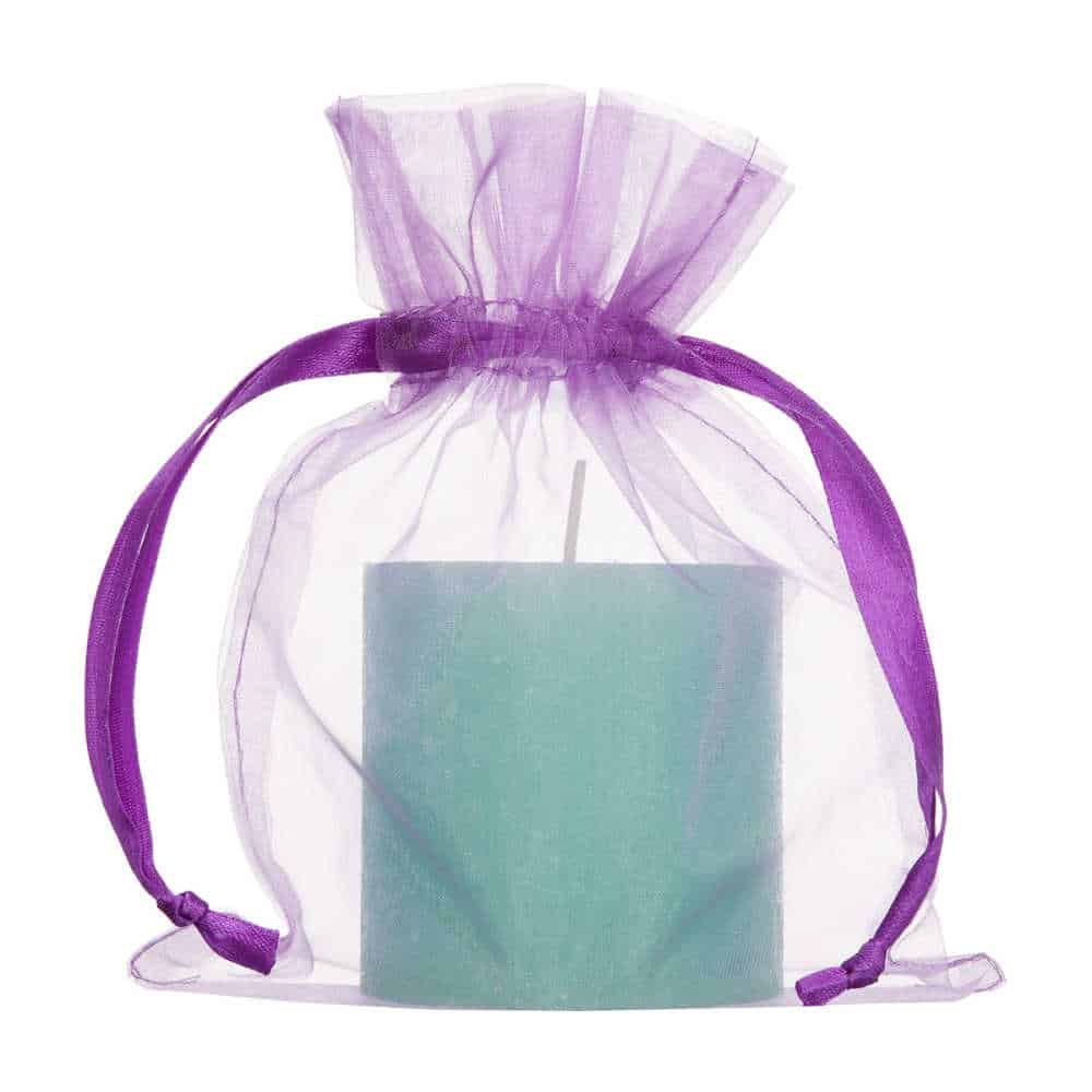 medium organza bag purple 15x20cm 2.0