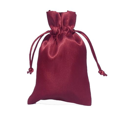 satin pouches wine red 10x15cm