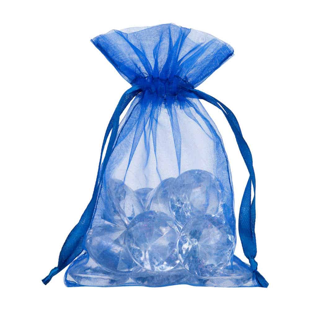 small organza bag 10x15cm royal blue 2.0