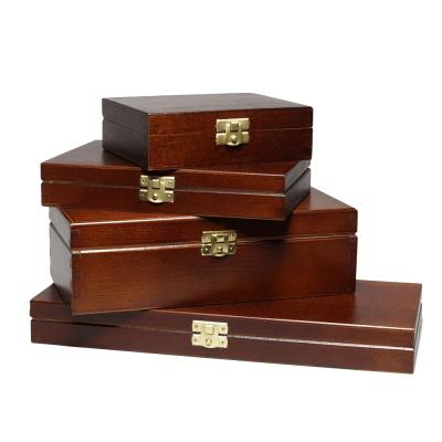 FSC-puulaatikot, joissa kansi A4, A5, A6, maalattu musta tai ruskea